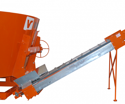 Cleated belt conveyor: ideal for unloading in a DAF or a Supercart