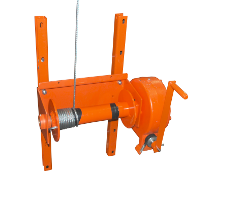 Hybrid Silo Unloader: Heavy duty winch