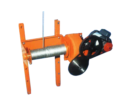Hybrid Silo Unloader: Electric two-speed hoist