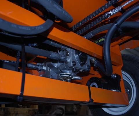 Chariot à litière / à ripe: Pompe & transmission