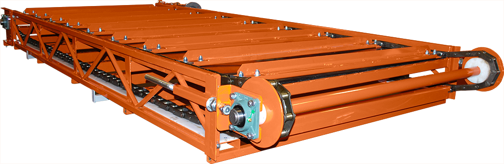 Round bale  double chain conveyor