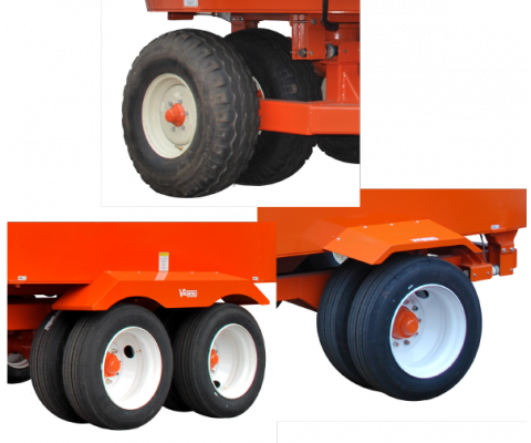 TMR mobile Vertical Mixer: Different wheel configurations