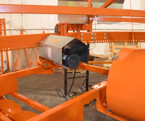 Central silo unloader – V2000: Independant power ring drive