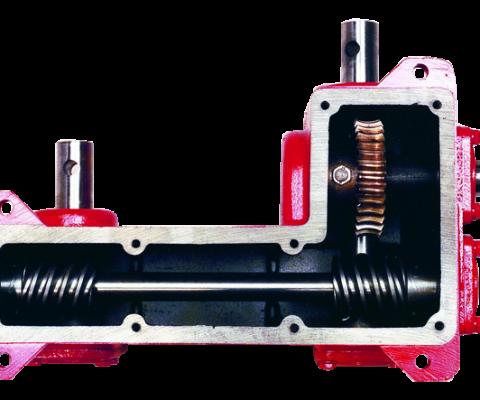 Hanson Twintrac Silo Unloader: Differential-drive transmission gear