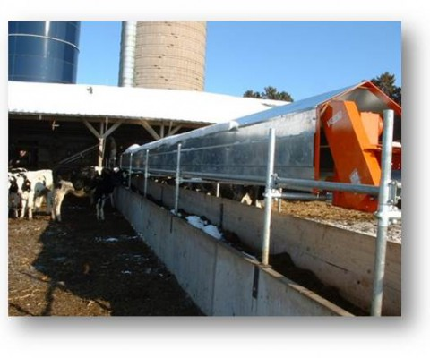 Belt conveyor: windboards and cover