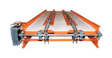 Square bale double chain conveyor