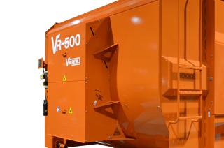 VR-500: Large porte de déchargement