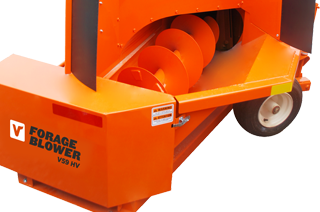 Forage blower: Large diameter auger